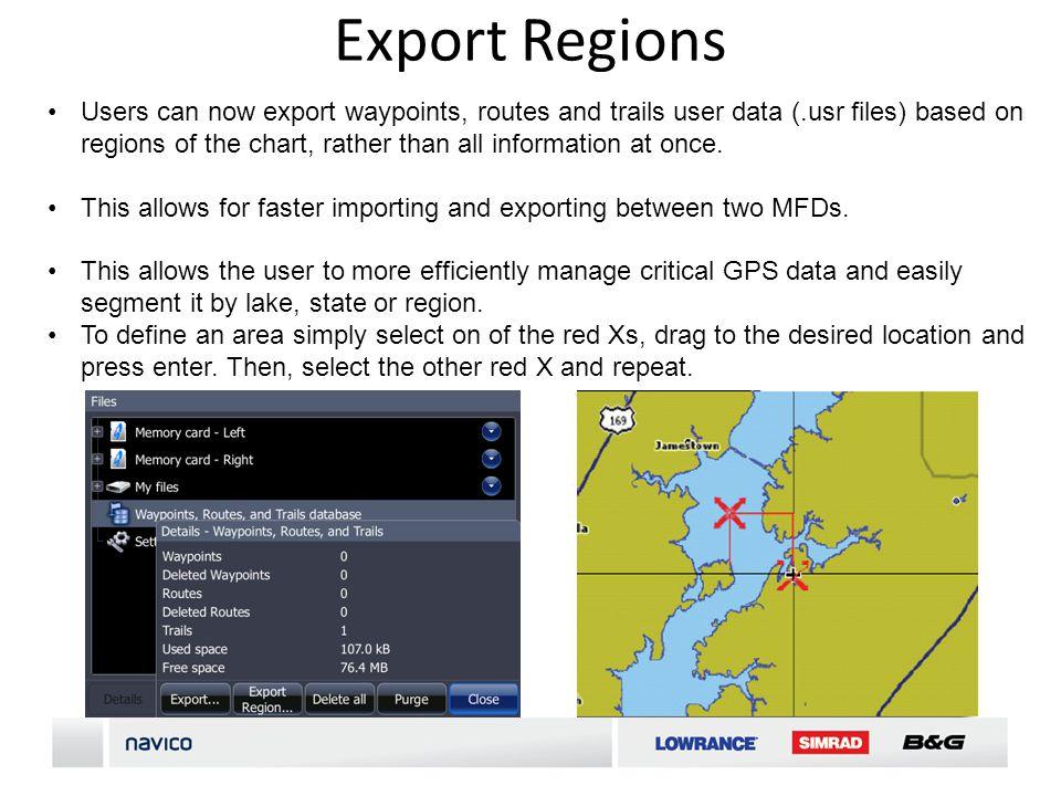 Export Regions