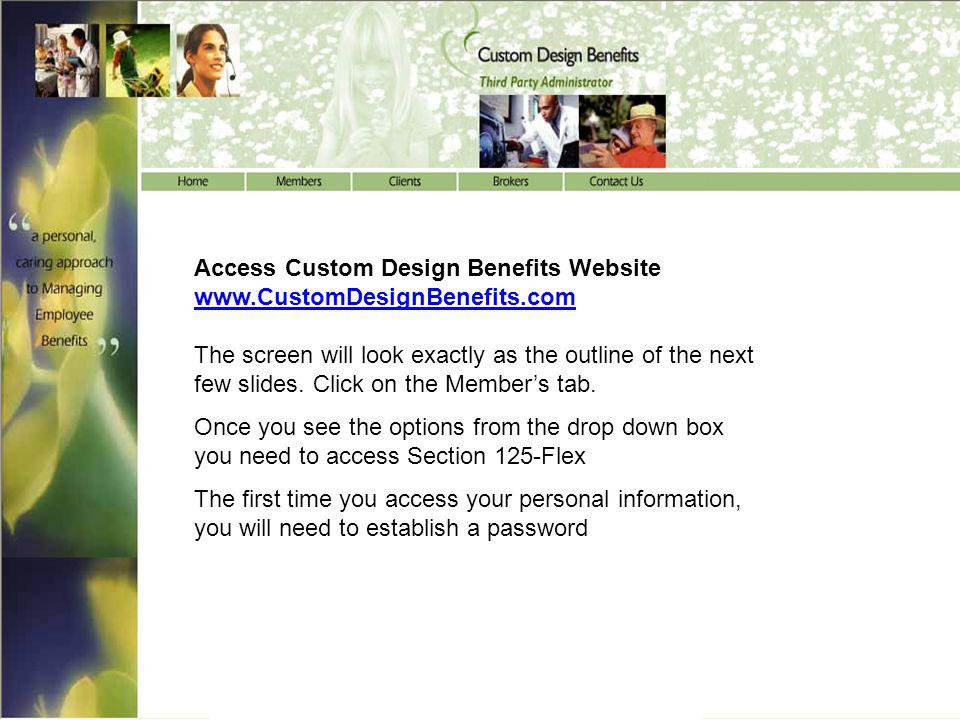 Access Custom Design Benefits Website