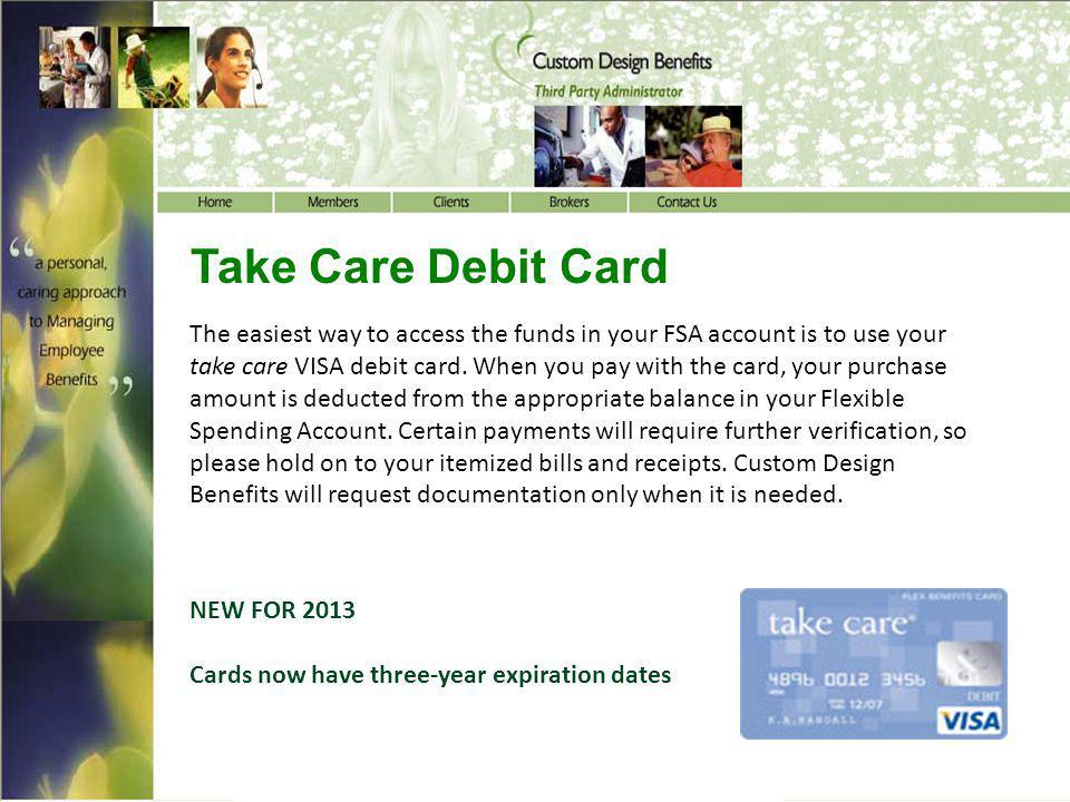 Take Care Debit Card