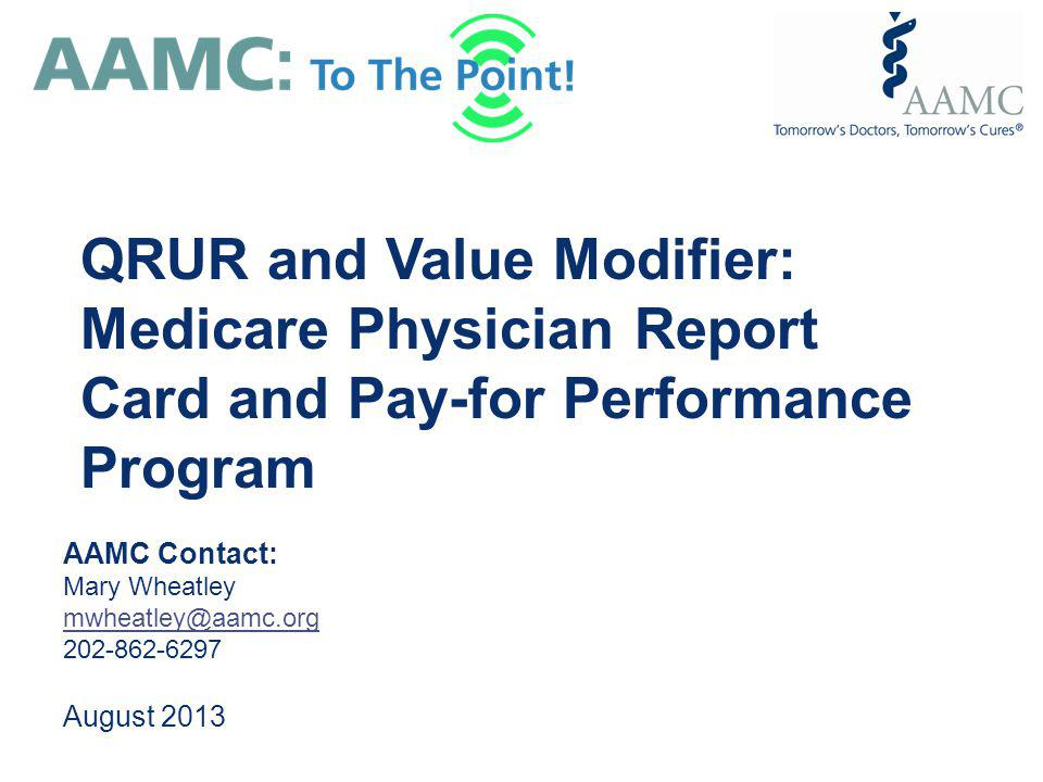 QRUR and Value Modifier: