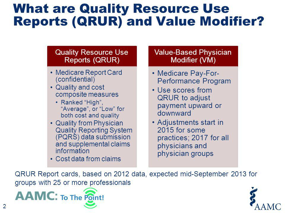 What are Quality Resource Use Reports (QRUR) and Value Modifier