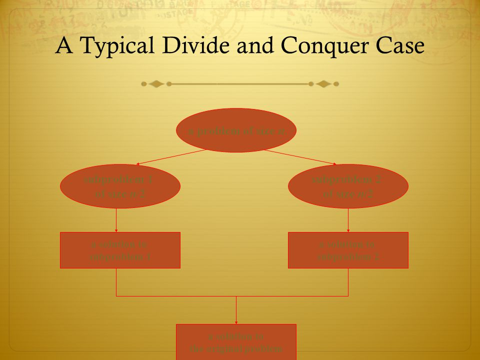 A Typical Divide and Conquer Case