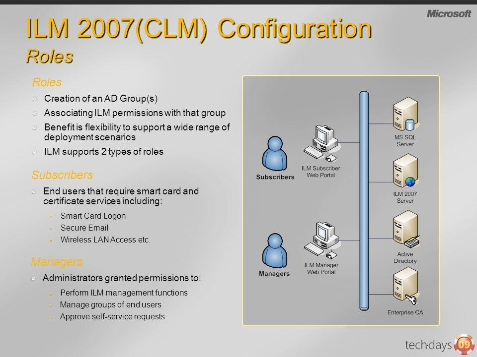 ILM 2007(CLM) Configuration