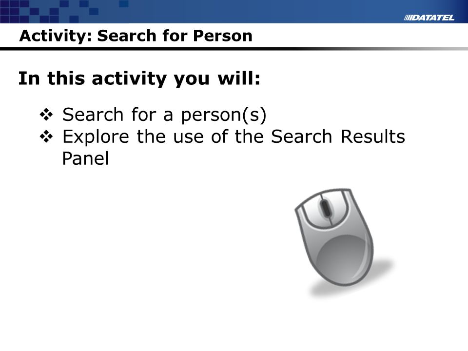 Activity: Search for Person