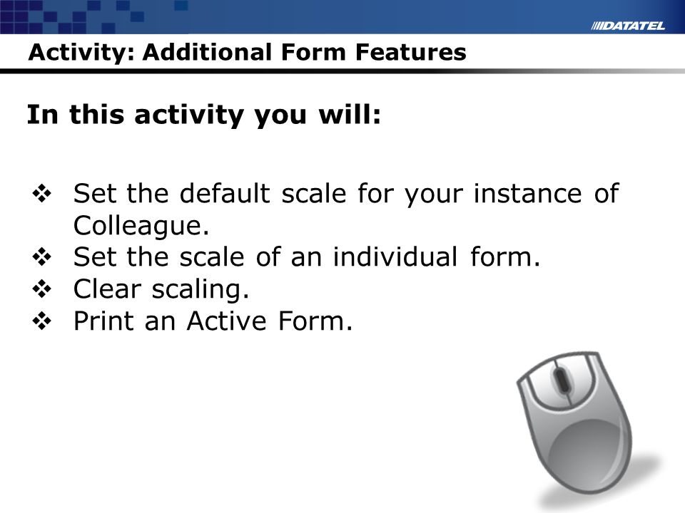 Activity: Additional Form Features