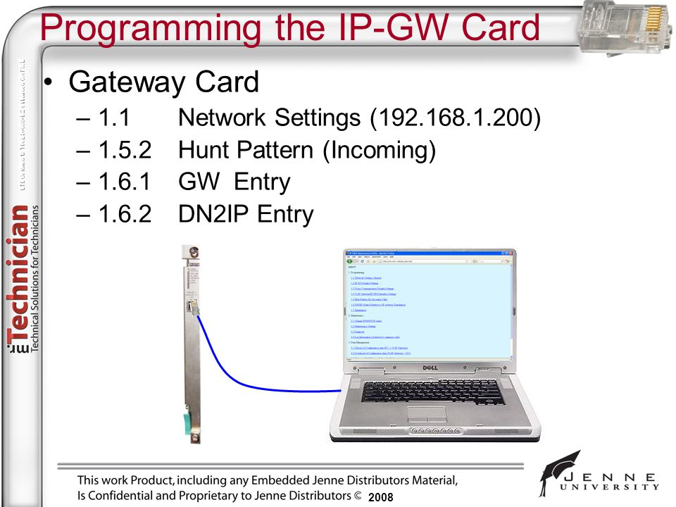 Programming the IP-GW Card