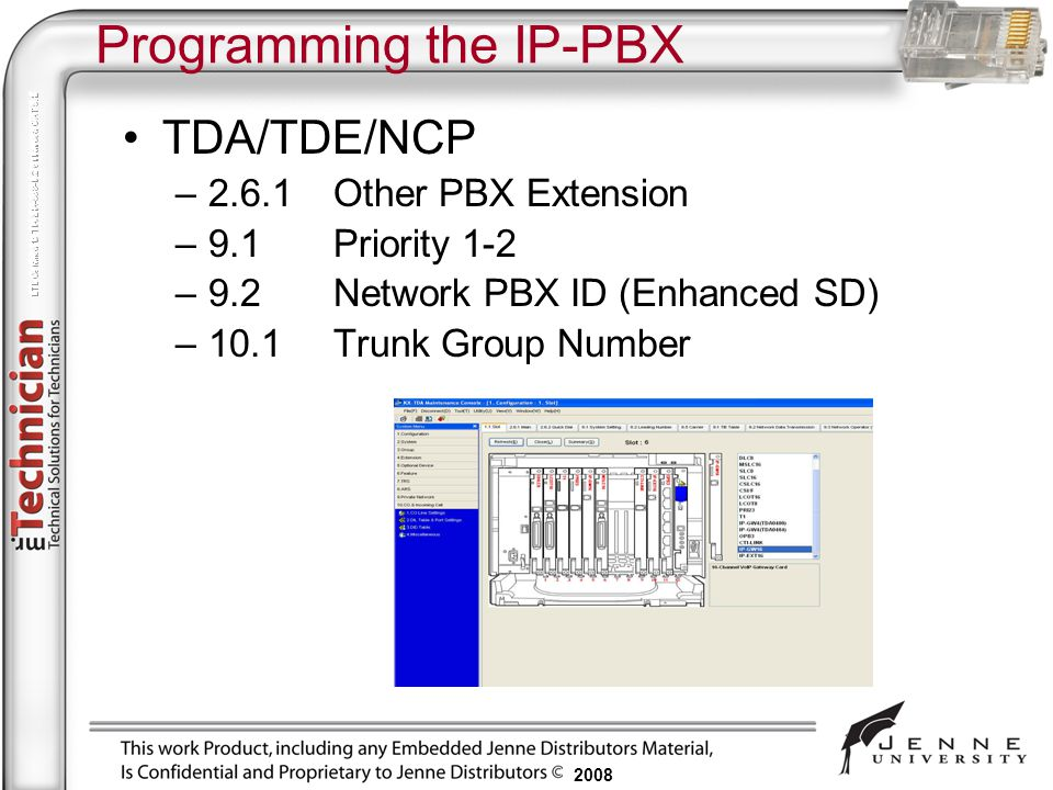 Programming the IP-PBX