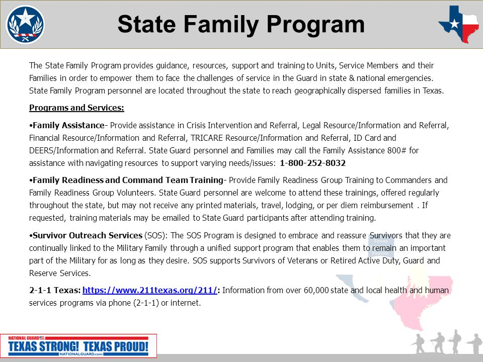 State Family Program