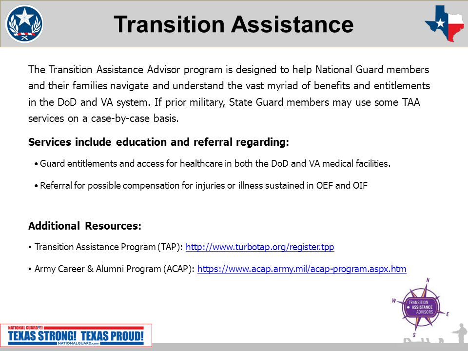 Transition Assistance