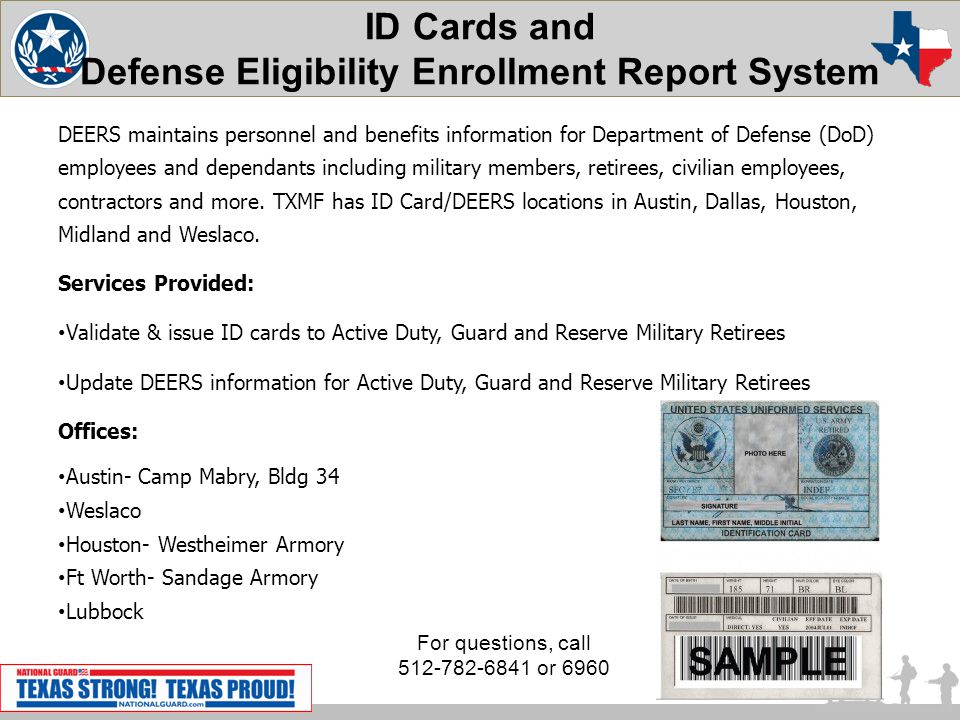 ID Cards and Defense Eligibility Enrollment Report System