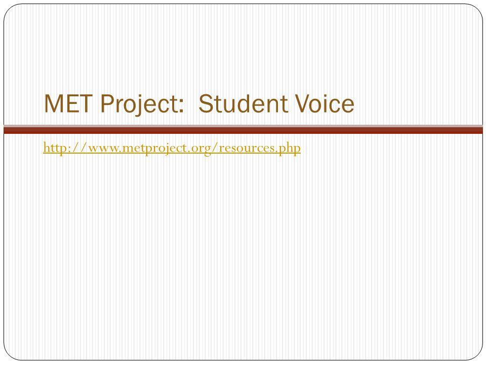MET Project: Student Voice
