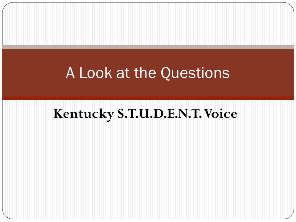 Kentucky S.T.U.D.E.N.T. Voice