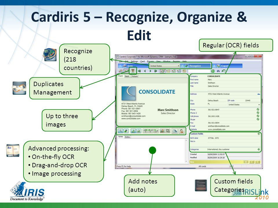 Cardiris 5 – Recognize, Organize & Edit
