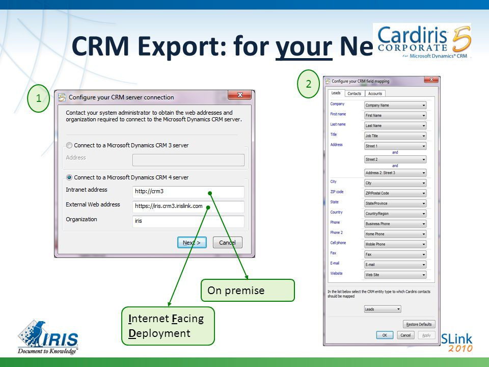 CRM Export: for your Needs