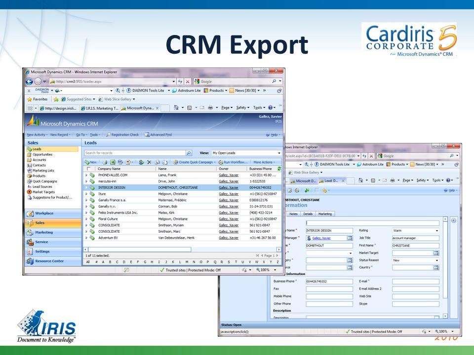 CRM Export