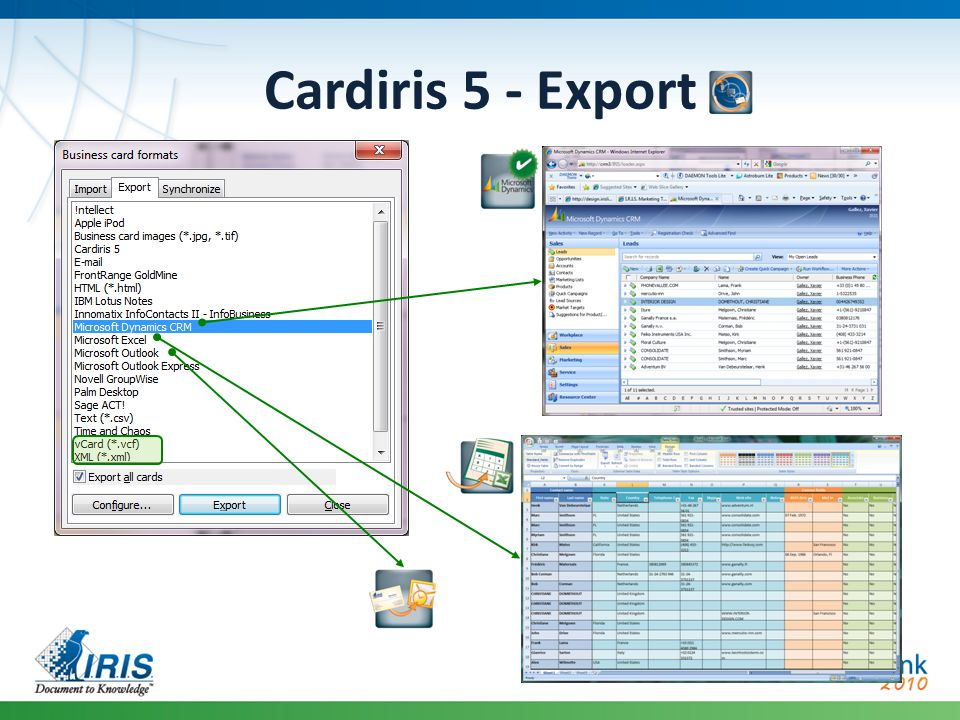 Cardiris 5 - Export