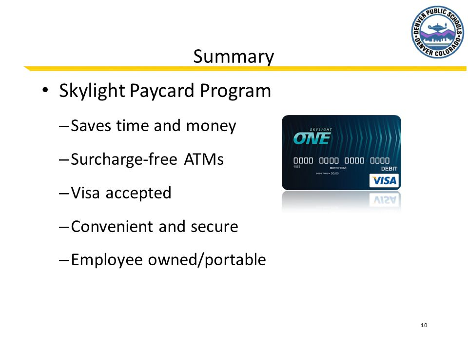 Skylight Paycard Program