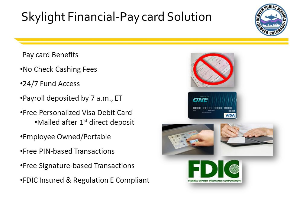 Skylight Financial-Pay card Solution