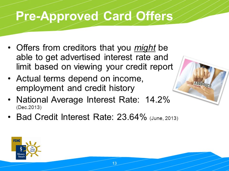 Pre-Approved Card Offers