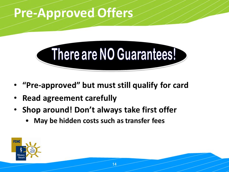 There are NO Guarantees!