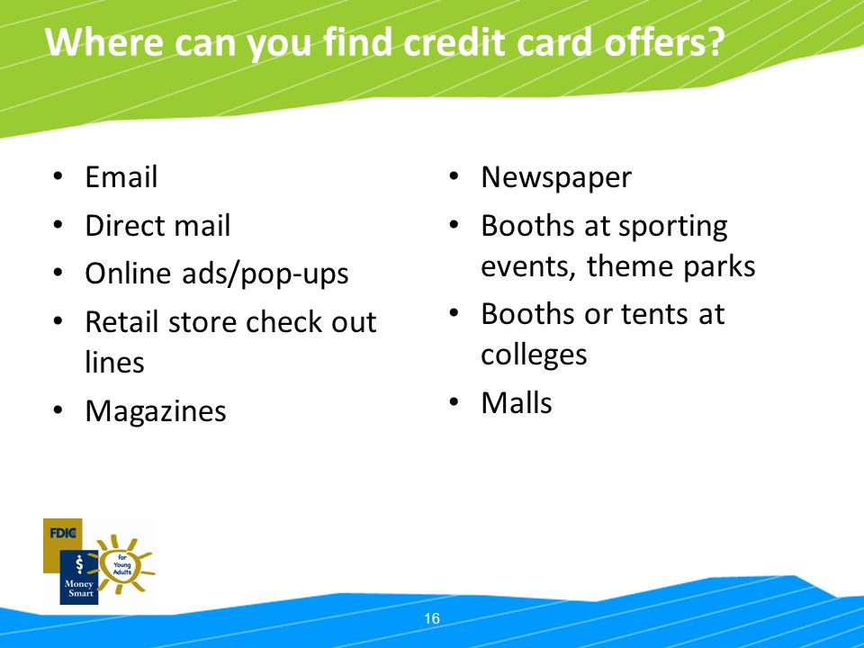 Where can you find credit card offers