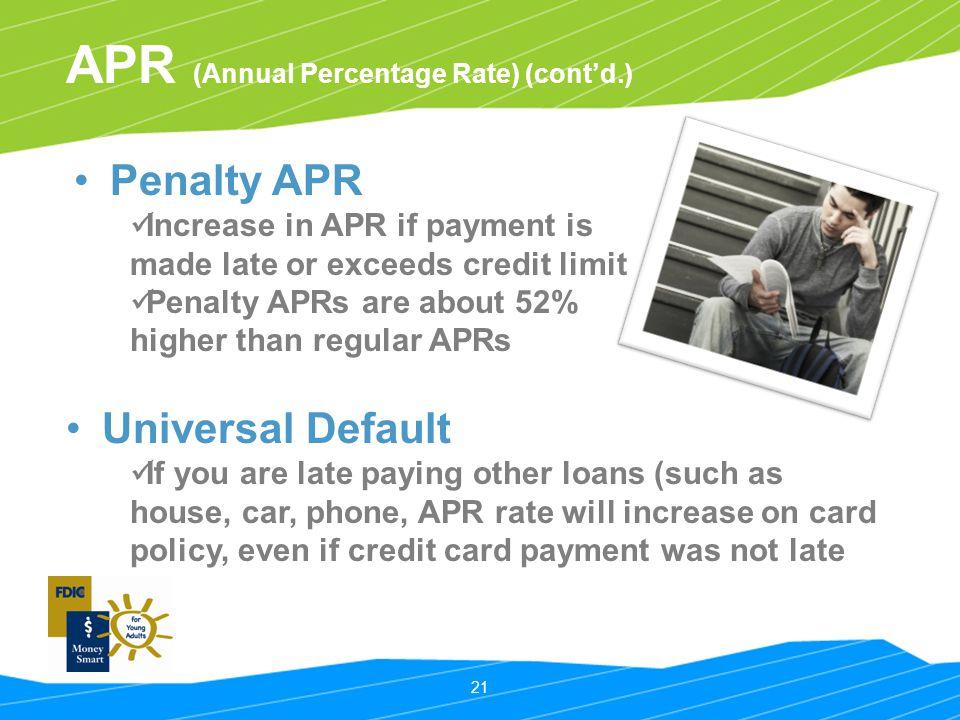 APR (Annual Percentage Rate) (cont'd.)
