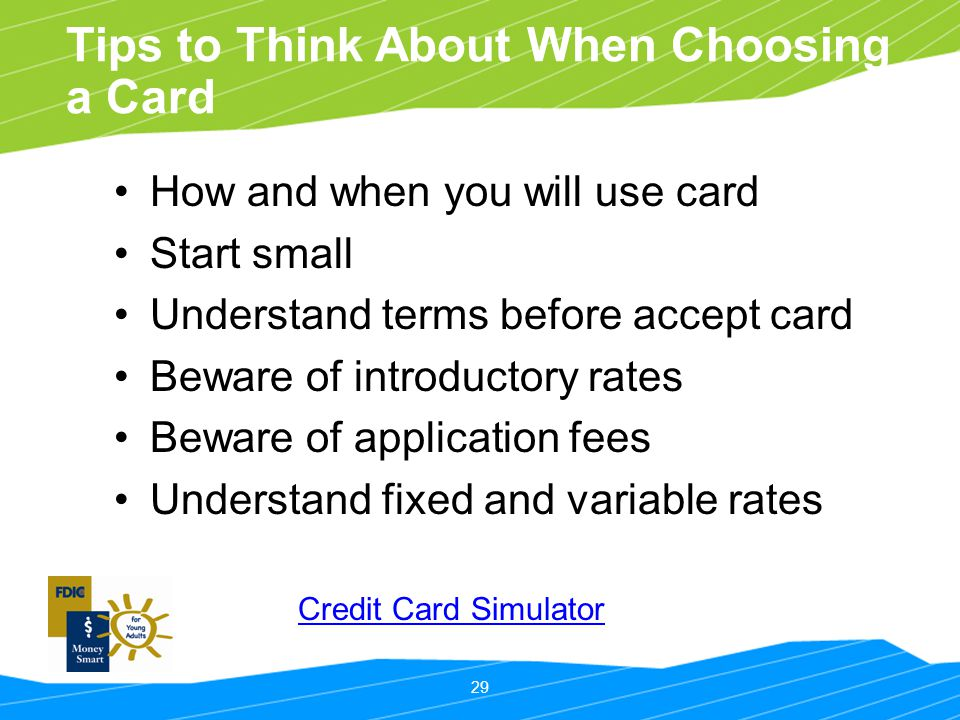 Tips to Think About When Choosing a Card