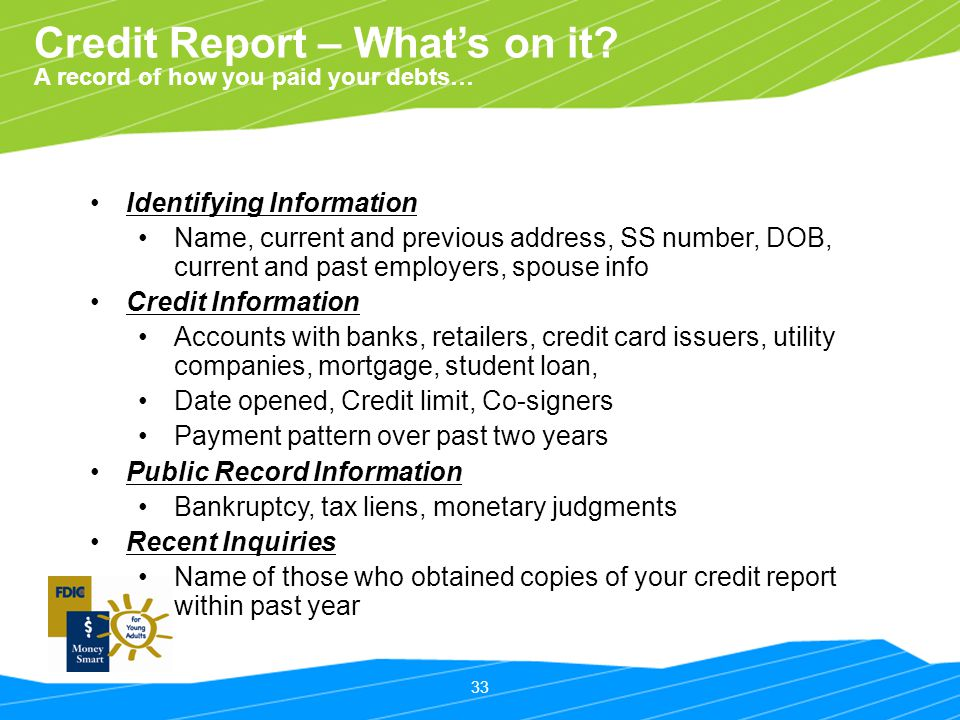 Credit Report – What's on it
