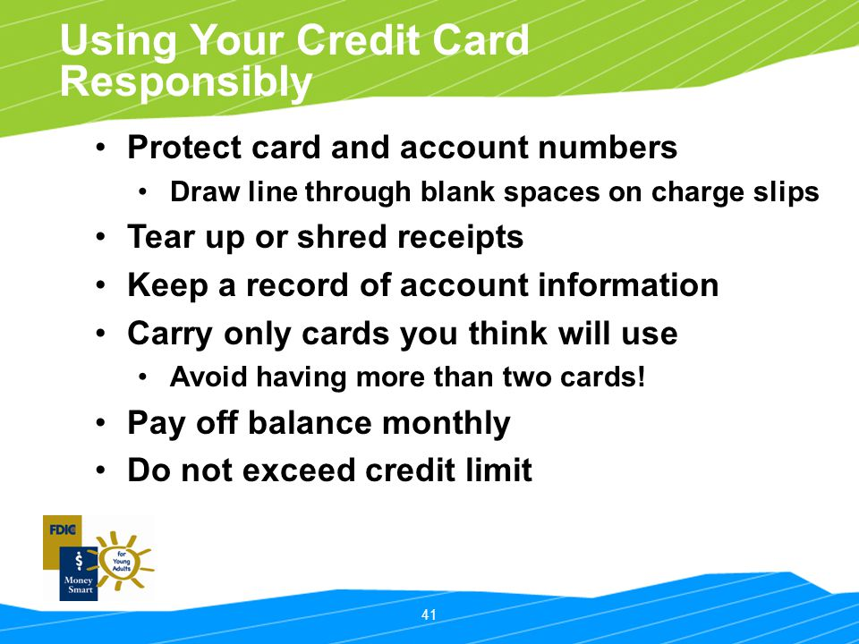 Using Your Credit Card Responsibly