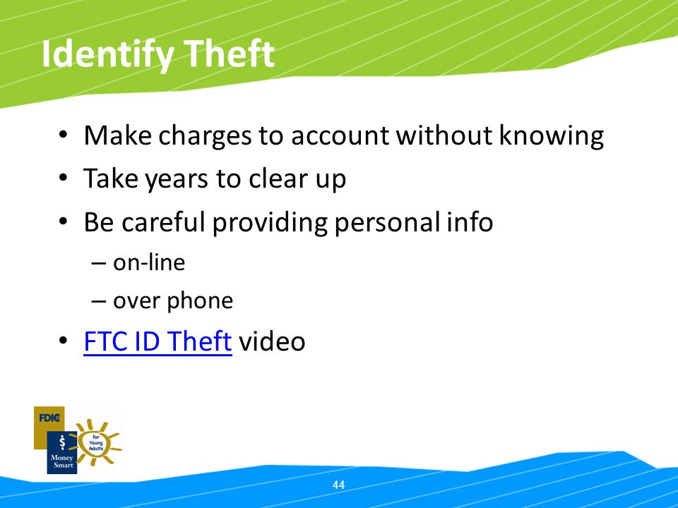 Identify Theft Make charges to account without knowing