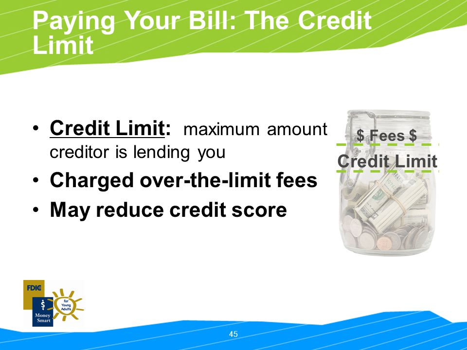 Paying Your Bill: The Credit Limit