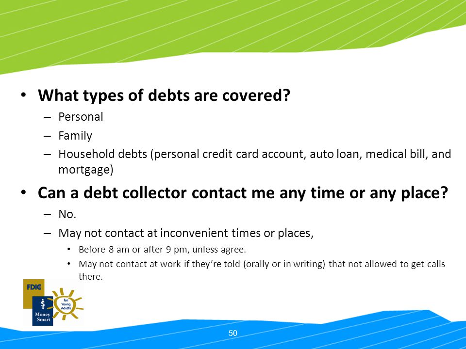 What types of debts are covered