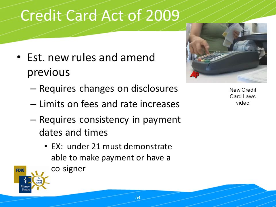 New Credit Card Laws video