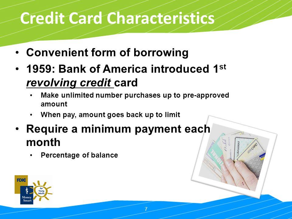 Credit Card Characteristics