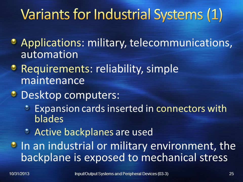 Variants for Industrial Systems (1)