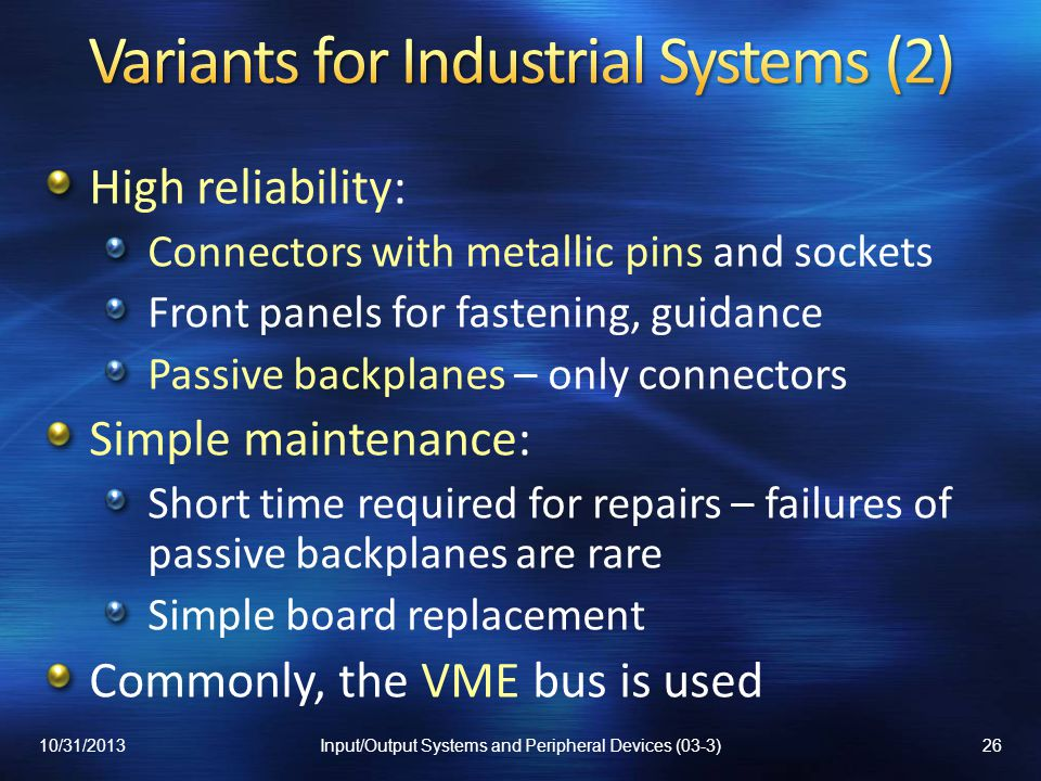 Variants for Industrial Systems (2)