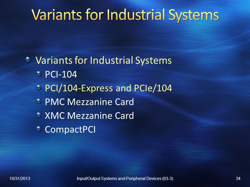 Variants for Industrial Systems