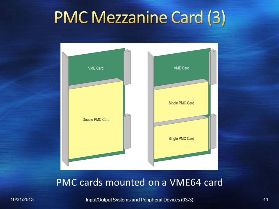PMC Mezzanine Card (3) PMC cards mounted on a VME64 card 10/31/2013