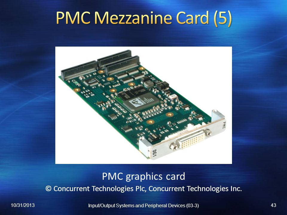 PMC Mezzanine Card (5) PMC graphics card