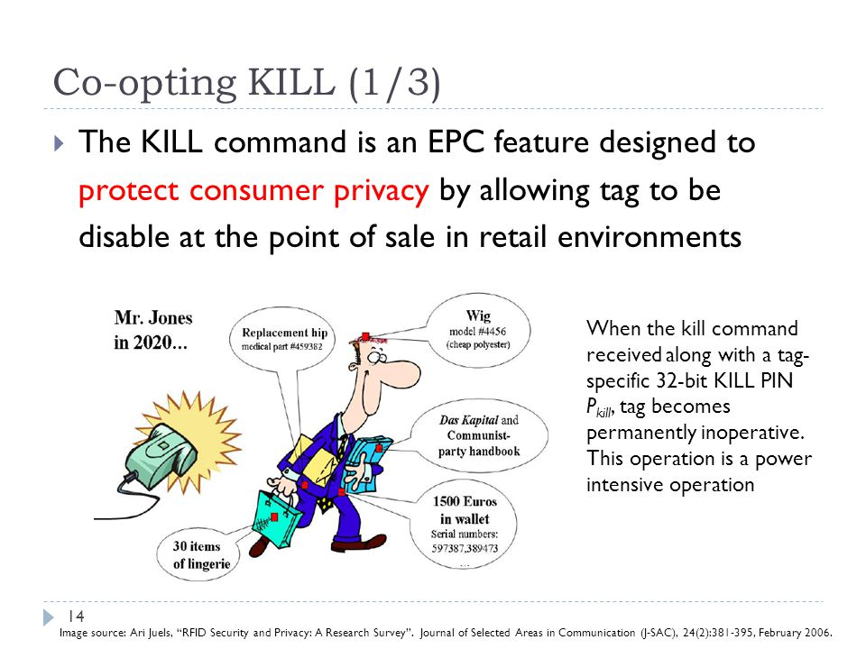 Co-opting KILL (1/3) The KILL command is an EPC feature designed to