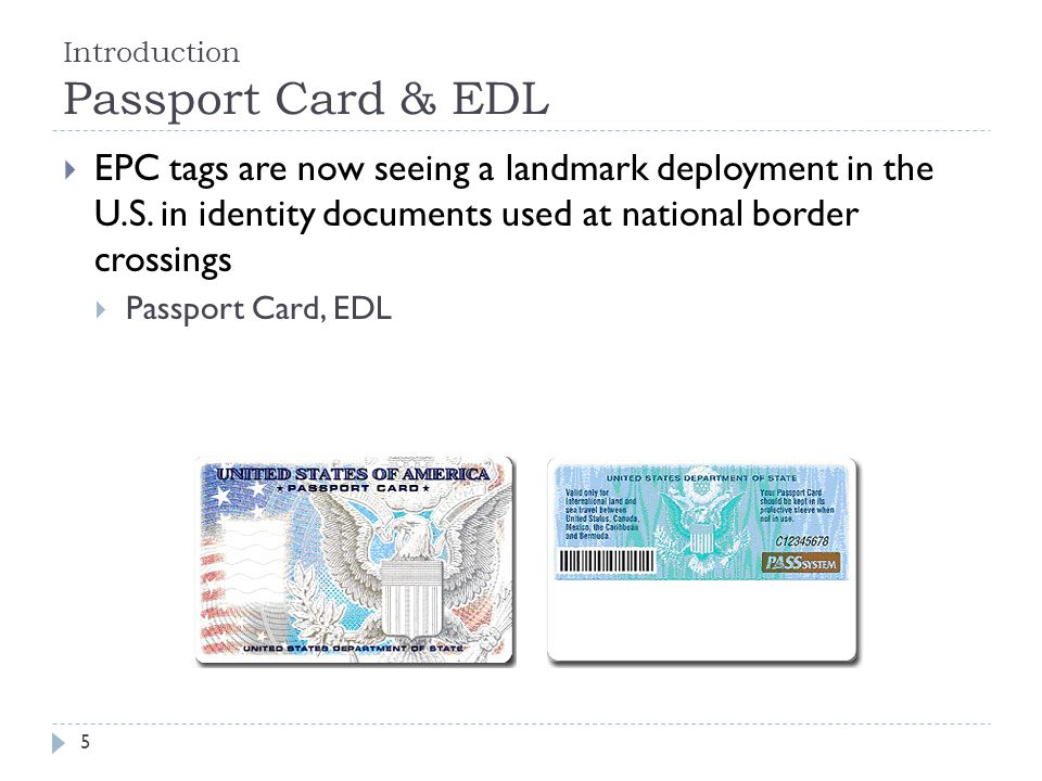 Introduction Passport Card & EDL