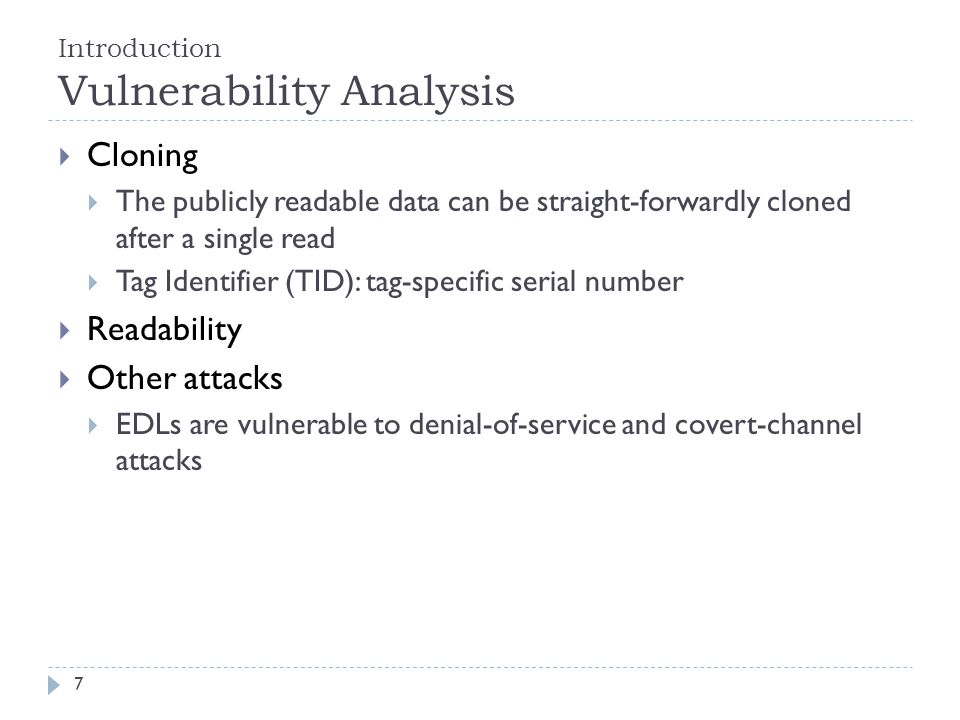 Introduction Vulnerability Analysis