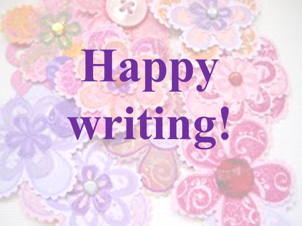 Happy writing!