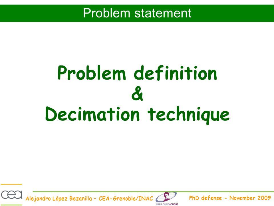 Problem definition & Decimation technique