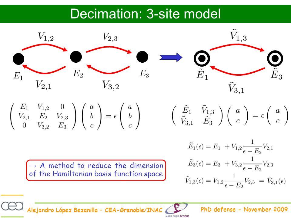 Decimation: 3-site model