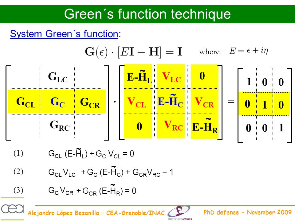 Green´s function technique
