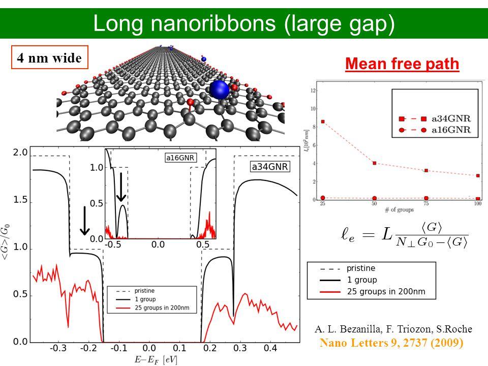 Long nanoribbons (large gap)