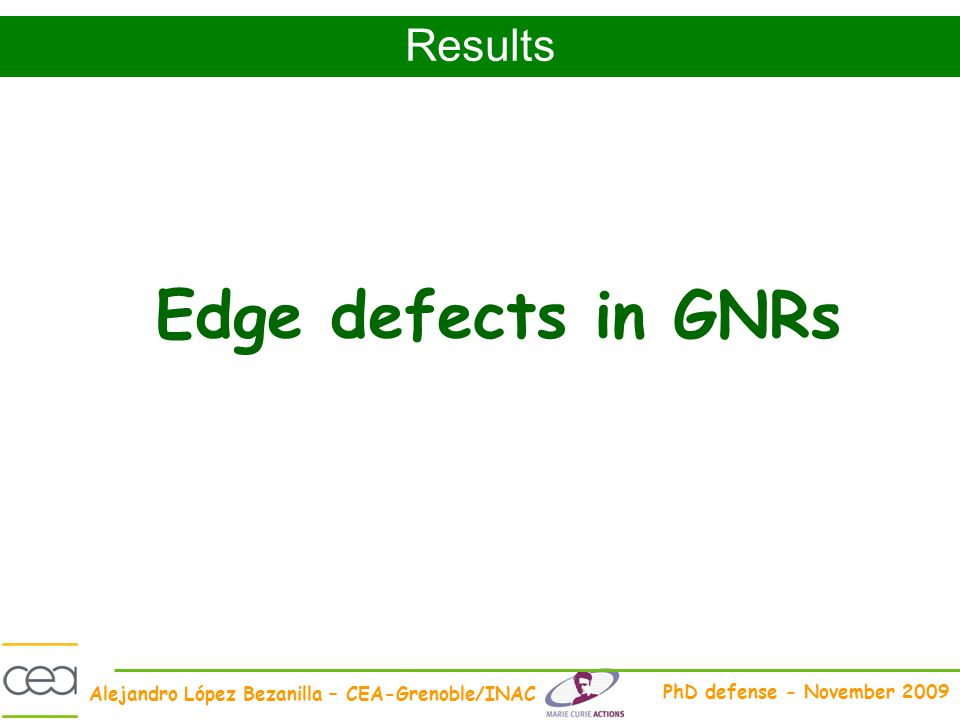 Results Edge defects in GNRs
