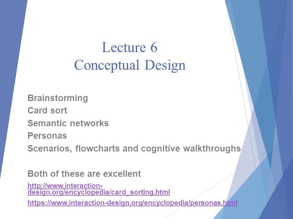 Lecture 6 Conceptual Design