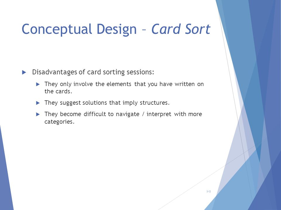 Conceptual Design – Card Sort